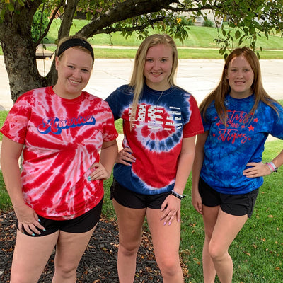 4th of July Tie Dye Tee Collection