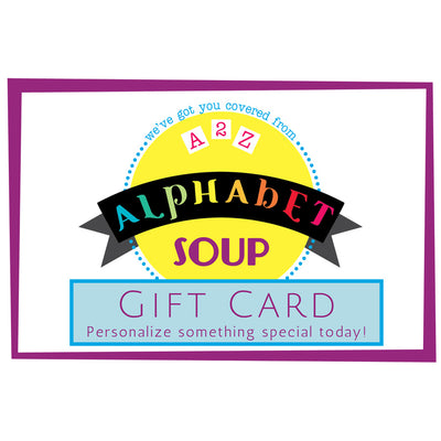 Alphabet Soup Designs Gift Card