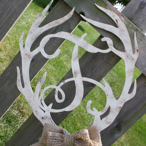 Antler Initial Hanging in White