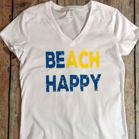 Beach Happy Vinyl Design Shirt