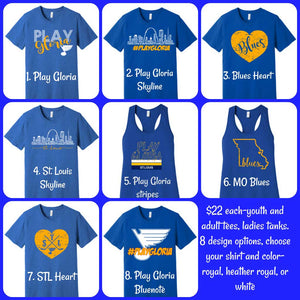 St Louis Blues Spirit Wear Shirts