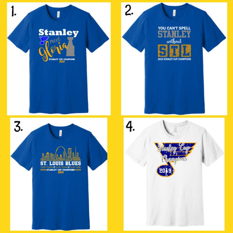 St. Louis Blues Champions Vinyl Design Shirts
