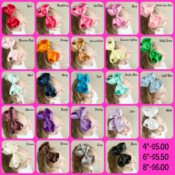 Hair Bow Colors