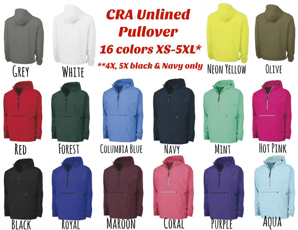 Unlined Pack N Go Pullover colors