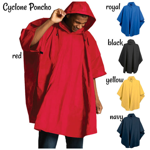 Adult Cyclone Poncho Colors