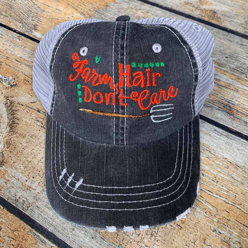Farm Hair Don't Care Pitchfork Hat