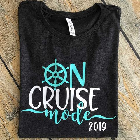 Cruise Mode Vinyl Design Shirt