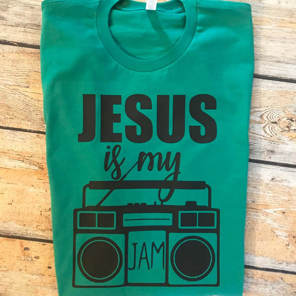 Jesus is My Jam Vinyl Design Shirt