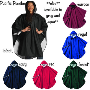 Pacific Poncho Chart