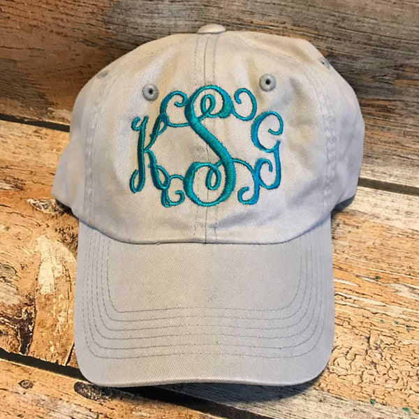 Personalized Baseball Hat Teal Thread