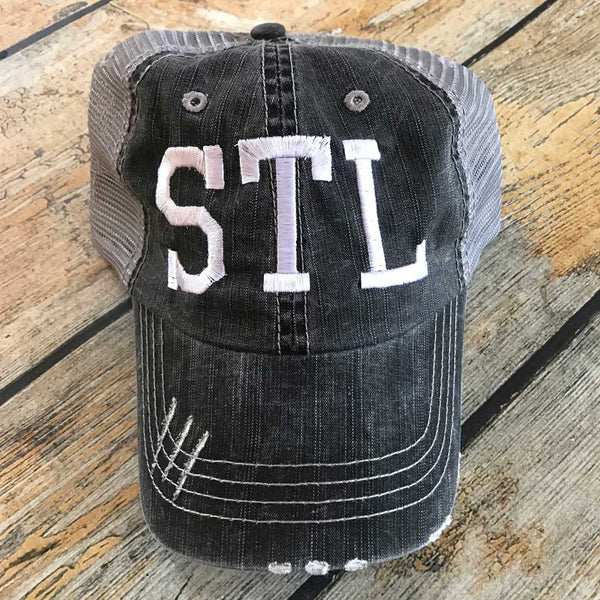 STL Hat Distressed Black