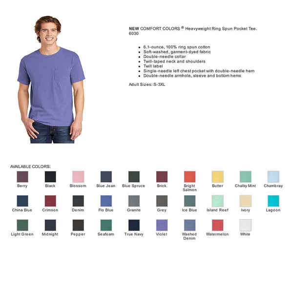 Pocket Tee Colors