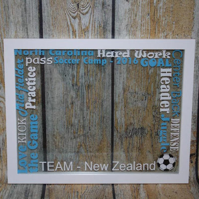 Soccer Words Floating Frame