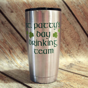 St. Patty's Day Drinking Team Stainless Tumbler