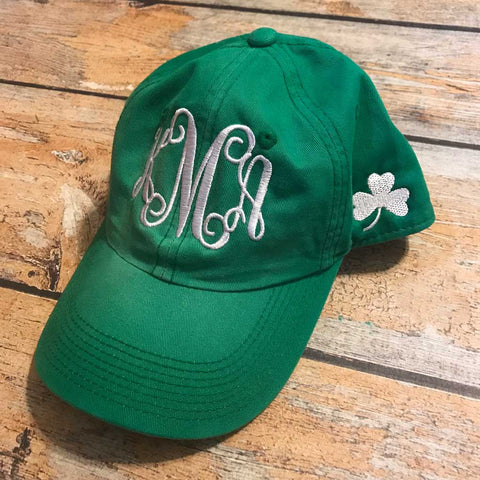 St Pat's Day Hat Front Monogram
