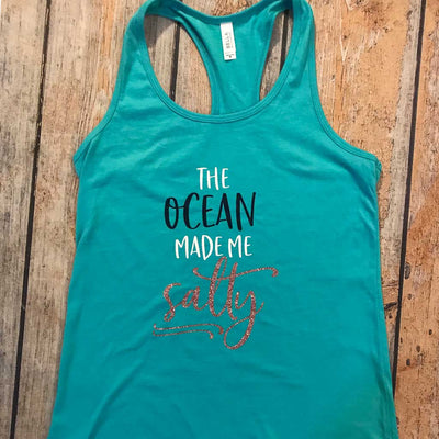 The Ocean Made Me Salty Vinyl Design Shirt