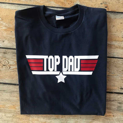 Top Dad Vinyl Design Shirt