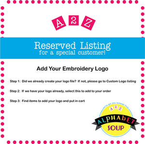 Add Embroidery Logo to Your Item