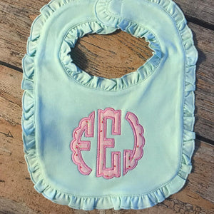 Applique Monogram Baby Bib