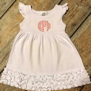 Applique Monogram Dress