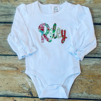 Applique Name Baby Bodysuit