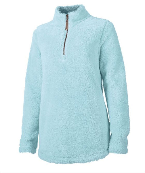 Women's Embroidered Monogram Sherpa Pullover