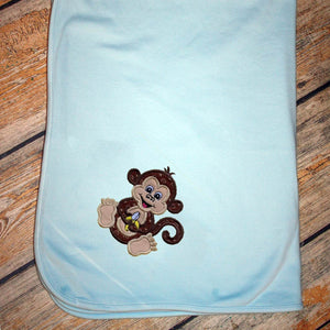 Applique Animal & Name Baby Blanket