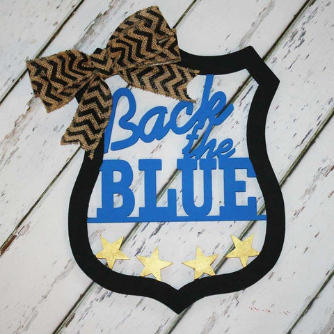 Back the Blue Wall Hanging