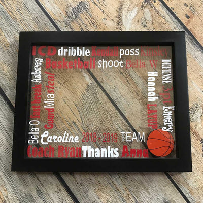 Basketball Floating Frame