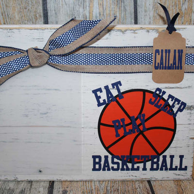 Eat, Sleep, Play Basketball Frame in Blue