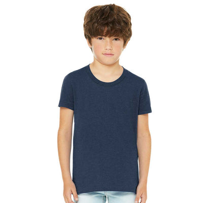 Personalized Youth Short Sleeve Tee - Heather Navy