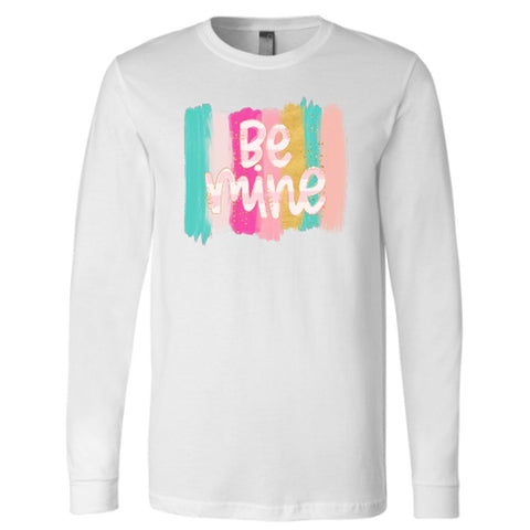 Be Mine With Pastel Stripes Vinyl Design Shirt
