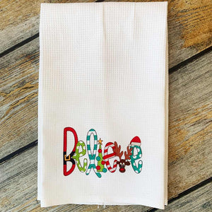 Sublimated Believe Hand Towel