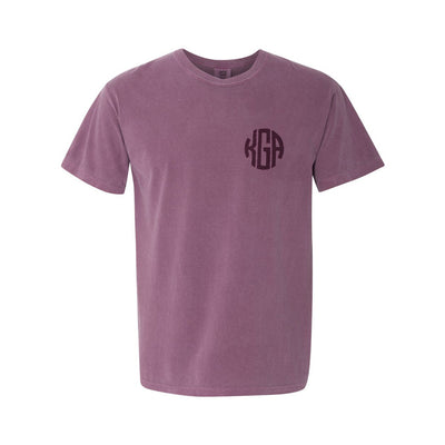 Embroidered Monogram Adult Short Sleeve Tee