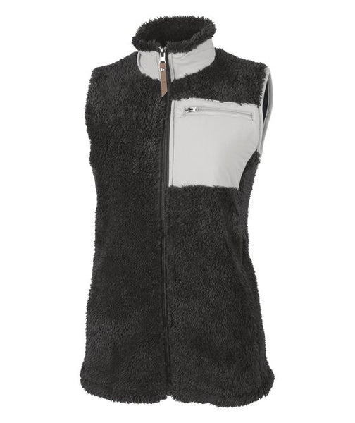 Ladies Embroidered Monogram Sherpa Vest