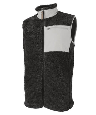 Men's Embroidered Monogram Sherpa Vest