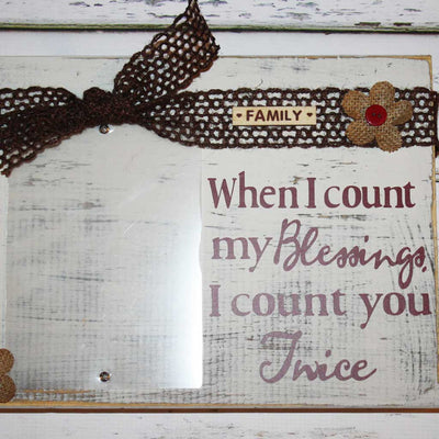 Count Blessings Frame