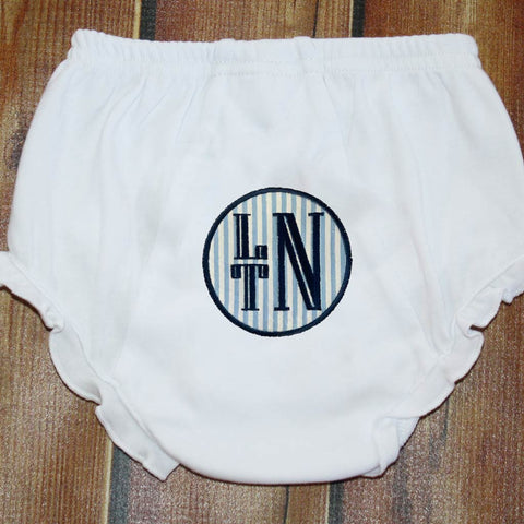 Applique Circle with Name/Monogram Ruffle Bloomers