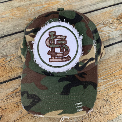 STL Camo Shabby Patch Embroidered Hat