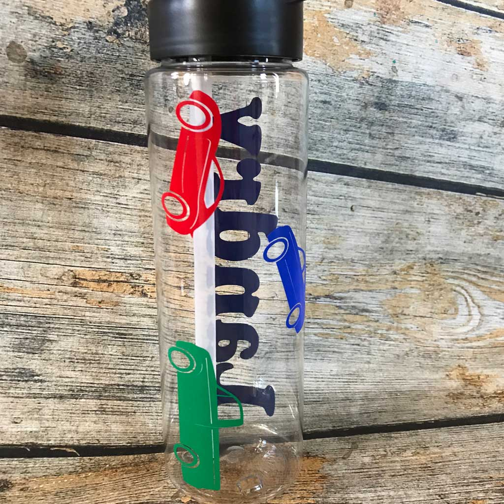Toy Car Water Bottle