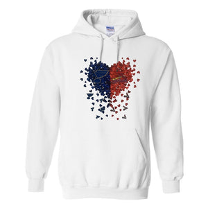 St. Louis Cardinals & Blues Confetti Heart Sublimated Hoodie Sweatshirt