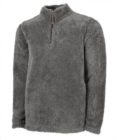 Men's Sherpa Pullover with Embroidered Monogram
