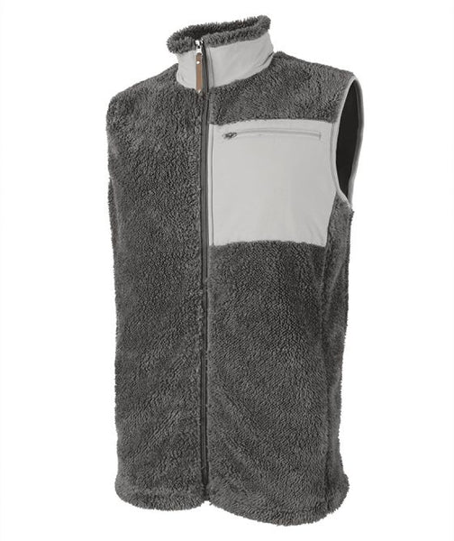 Men's Sherpa Vest with Embroidered Monogram