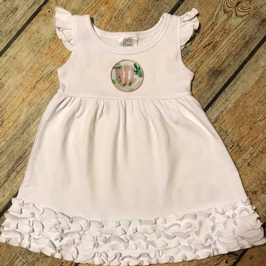 Applique Circle with Name/Monogram Dress