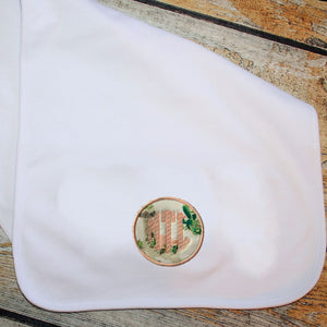 Applique Circle with Name/Monogram Burp Cloth