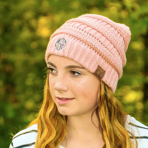 Embroidered Monogram Classic Beanie