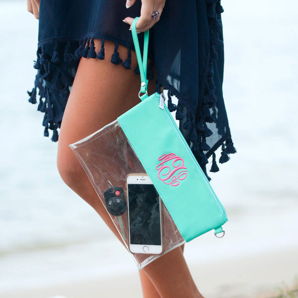 Clear Purse in Mint