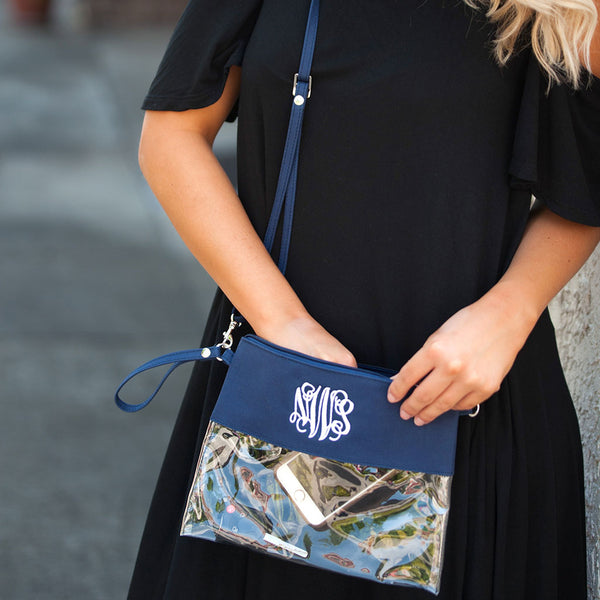 Clear Purse in Navy