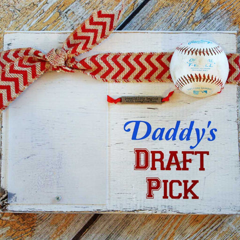 Dad's Draft Pick Custom Wood Block Frame
