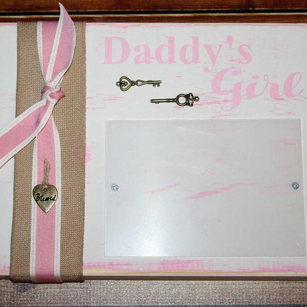 Daddy's Girls Frame in Pink